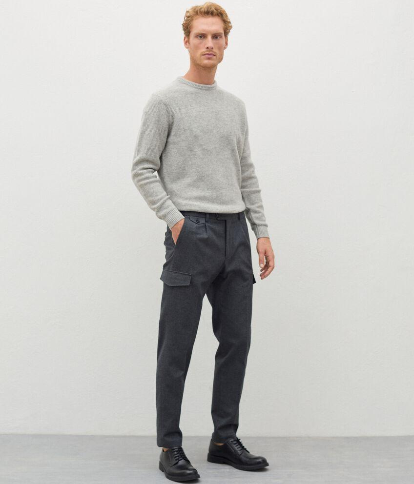 Pantaloni eleganti cargo uomo double 1