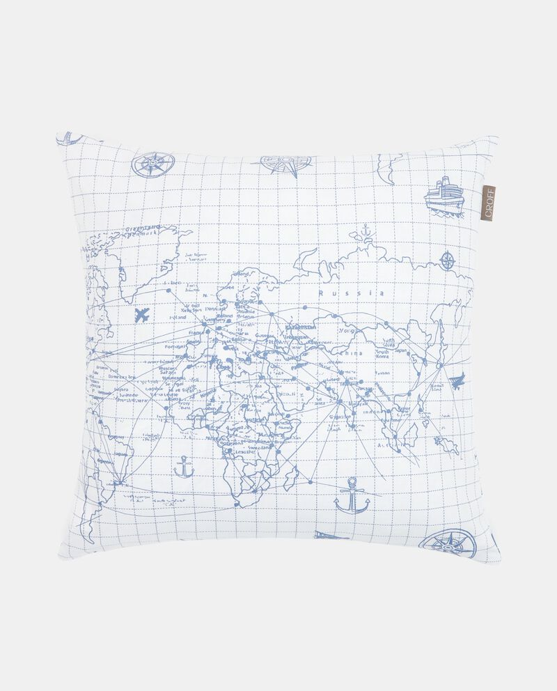Cuscino con stampa cartina geografica