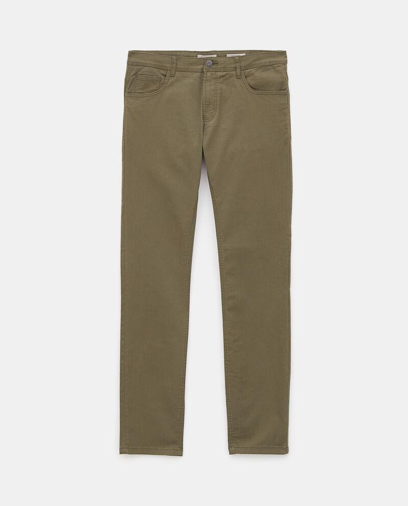 Pantaloni classici di cotone stretch uomo cover