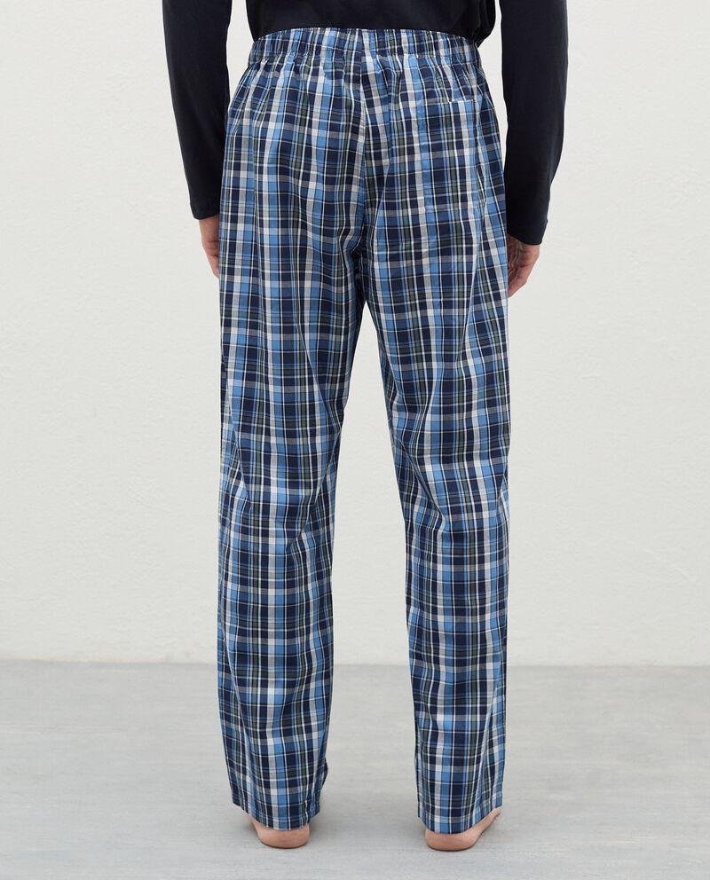 Pantaloni del pigiama con motivo a quadri in cotone uomo single tile 1