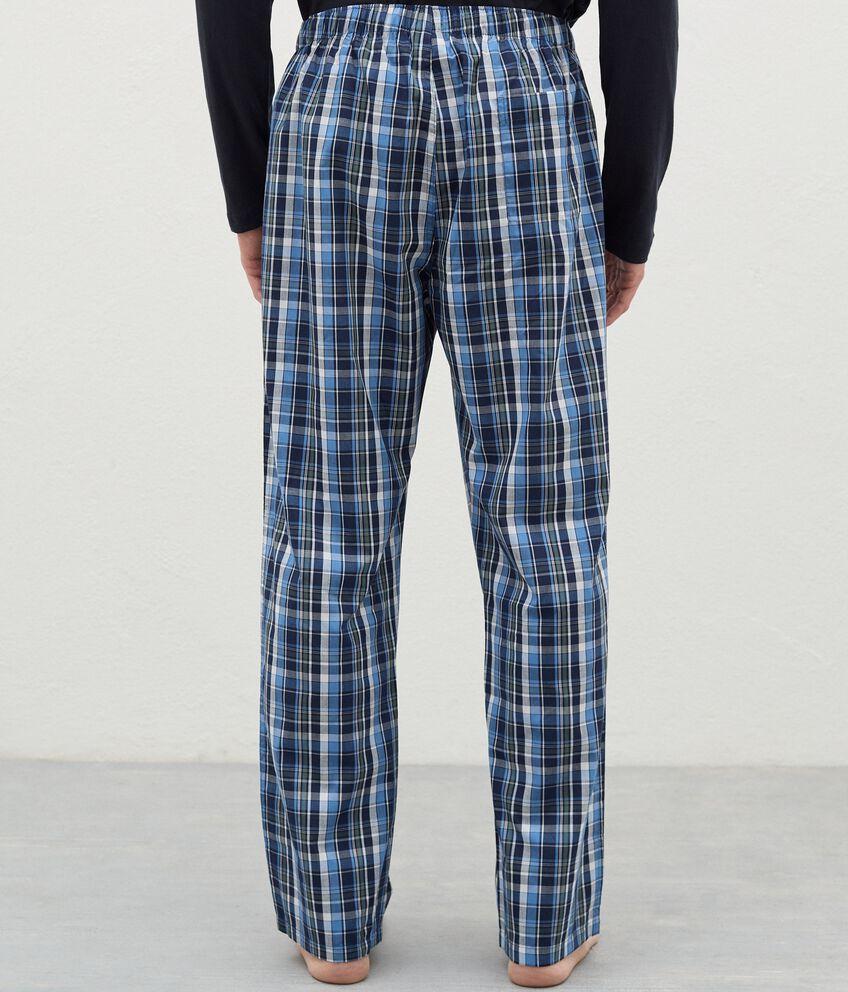 Pantaloni del pigiama con motivo a quadri in cotone uomo double 2