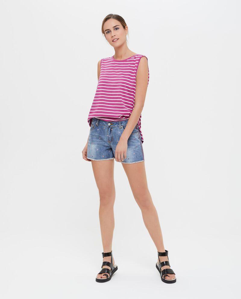Shorts in cotone misto viscosa donna
