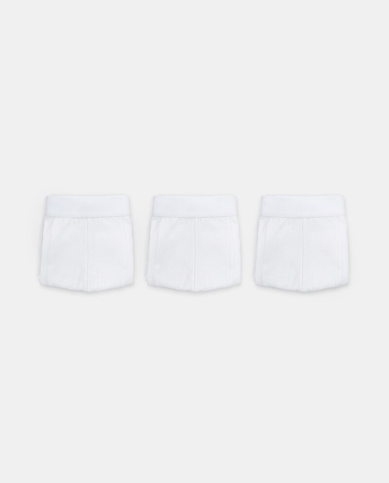 Set con 3 boxer tinta unita in cotone elasticizzato uomo
