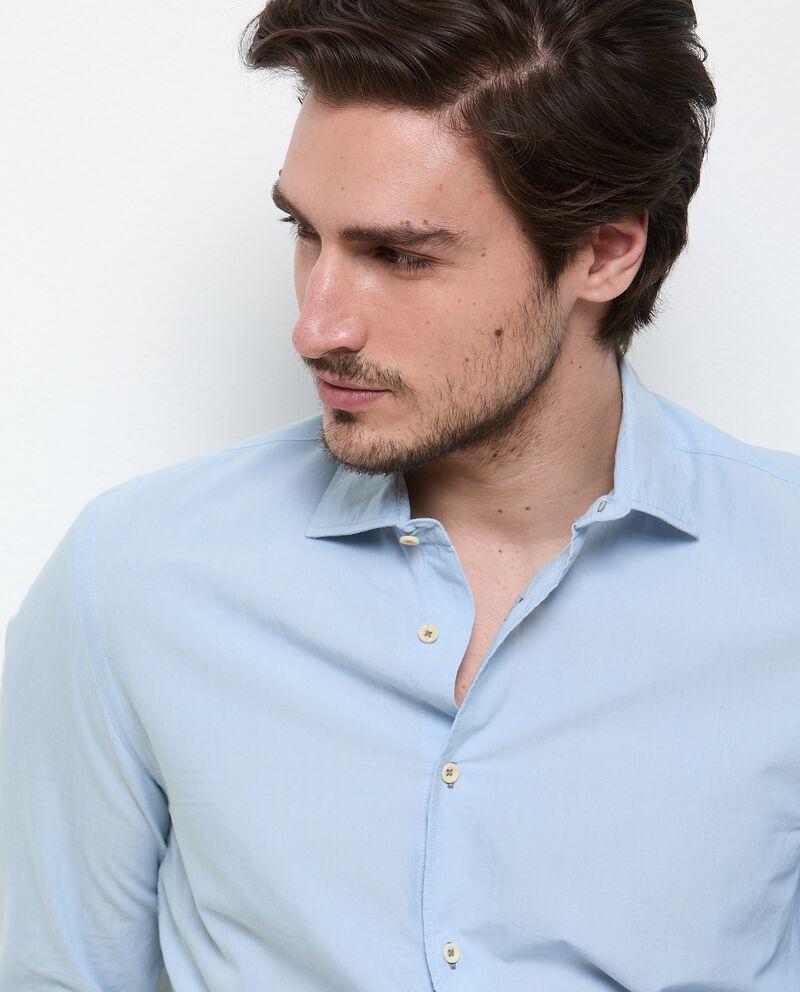 Camicia tinta unita di puro cotone uomo single tile 2