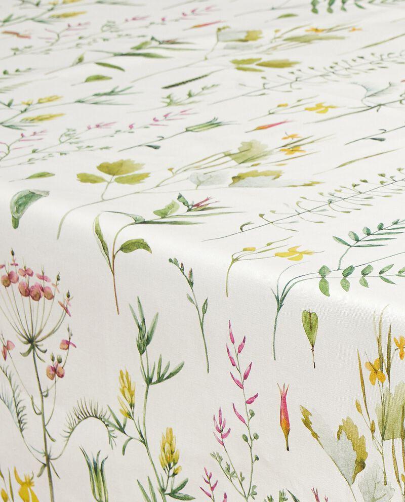 Tovaglia con stampa botanica in puro cotone