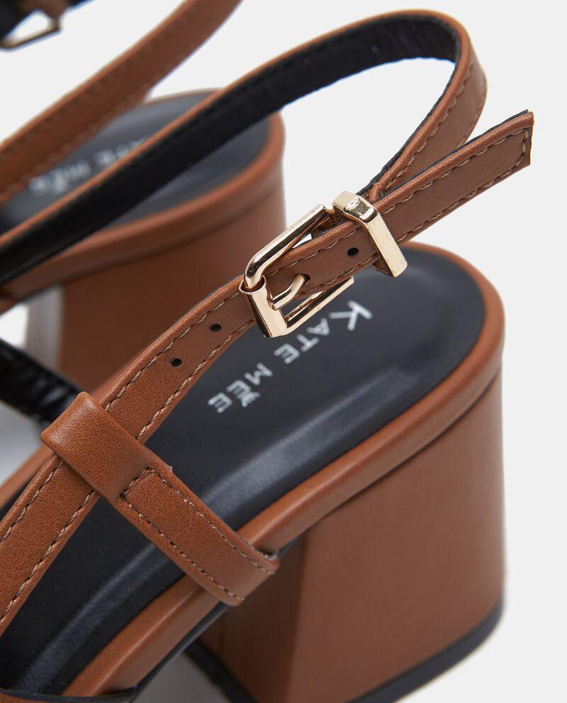 Sandalo incrociato con tacco donna