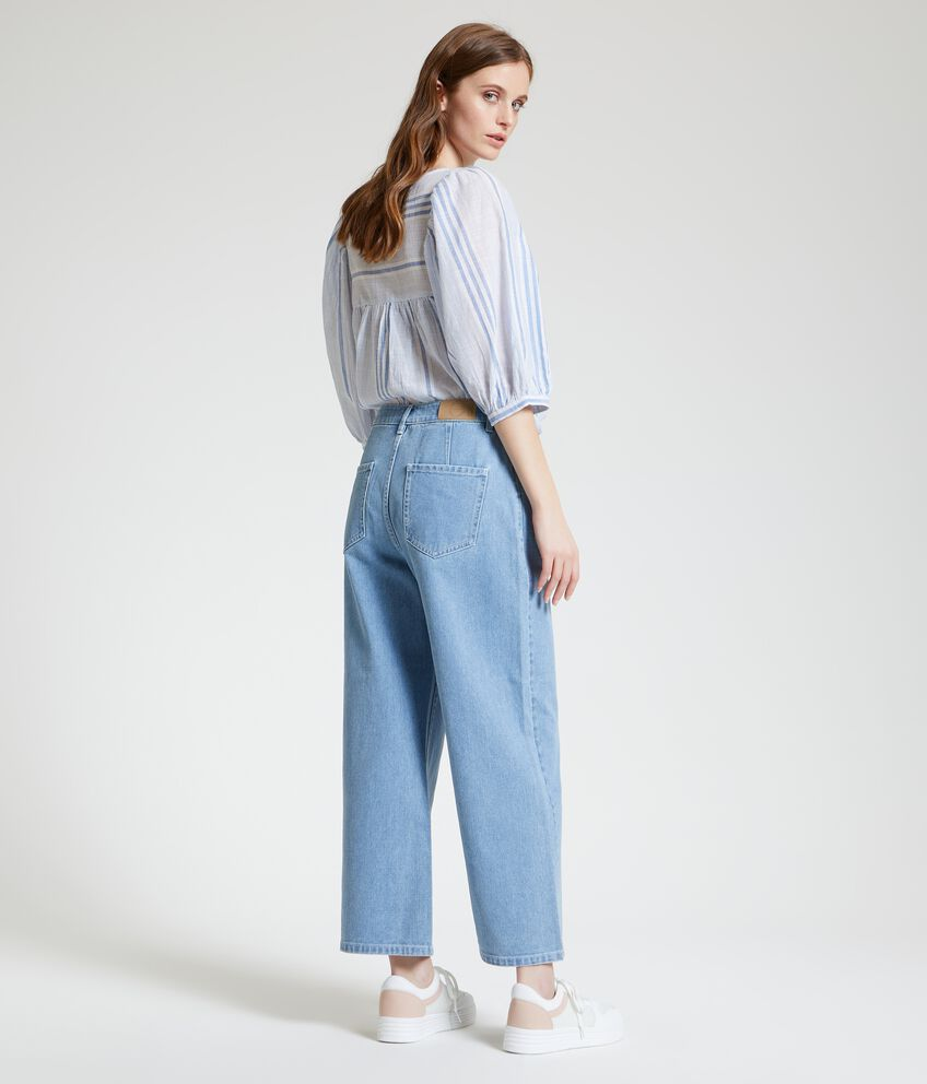 Jeans culotte fit in puro cotone