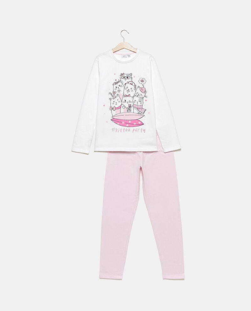 Set pigiama di puro cotone con maglia e pantaloni