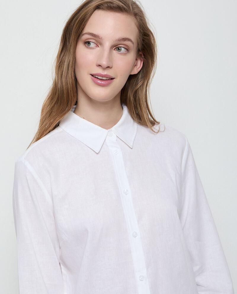 Camicia over in lino misto viscosa donna