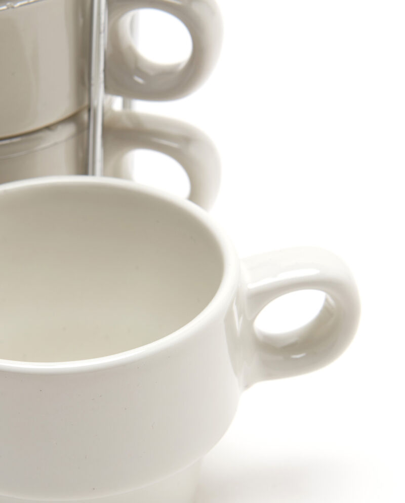 Set quattro tazze da caffè in ceramica