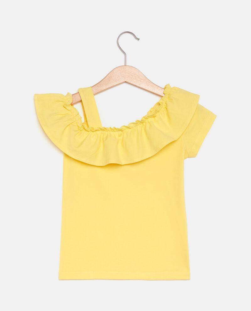 T-shirt in cotone biologico con spalla scoperta bambina