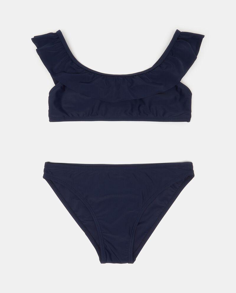 Bikini slip e fascia stretch tinta unita