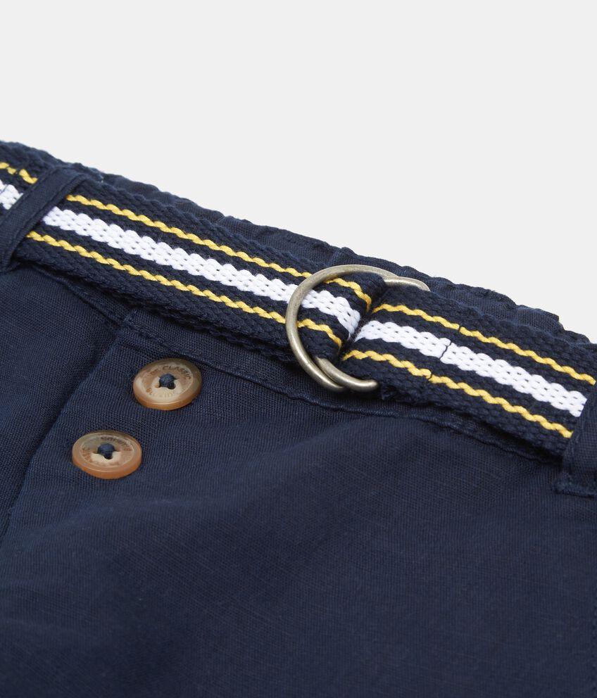 Pantaloni in lino e cotone tinta unita
