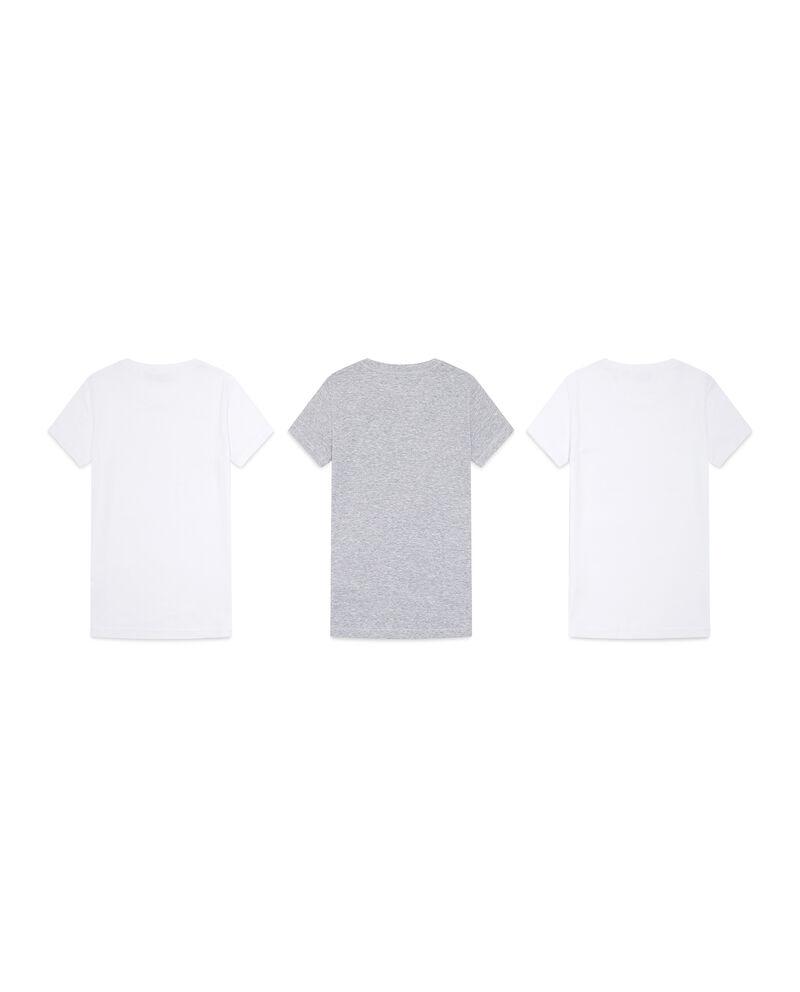 Set tre t-shirt intime unito e mélange