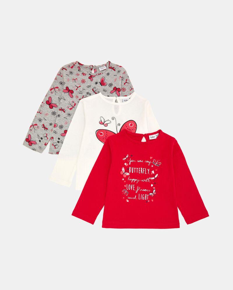 Pack con 3 t-shirt in cotone stretch neonata cover