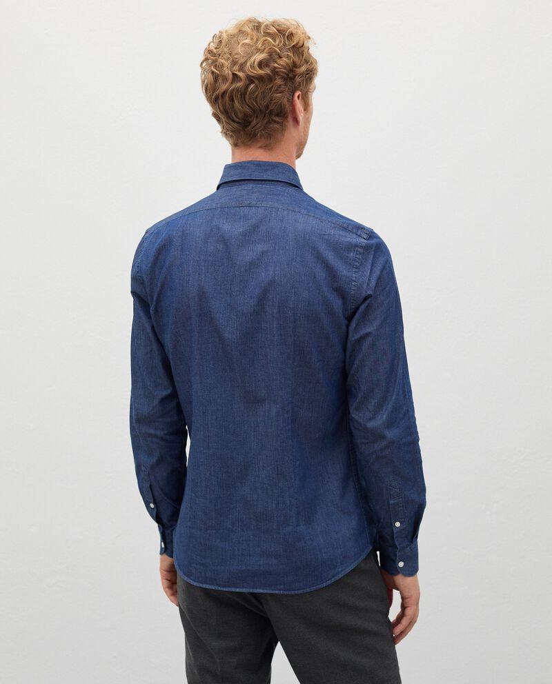 Camicia denim in puro cotone uomodouble bordered 1