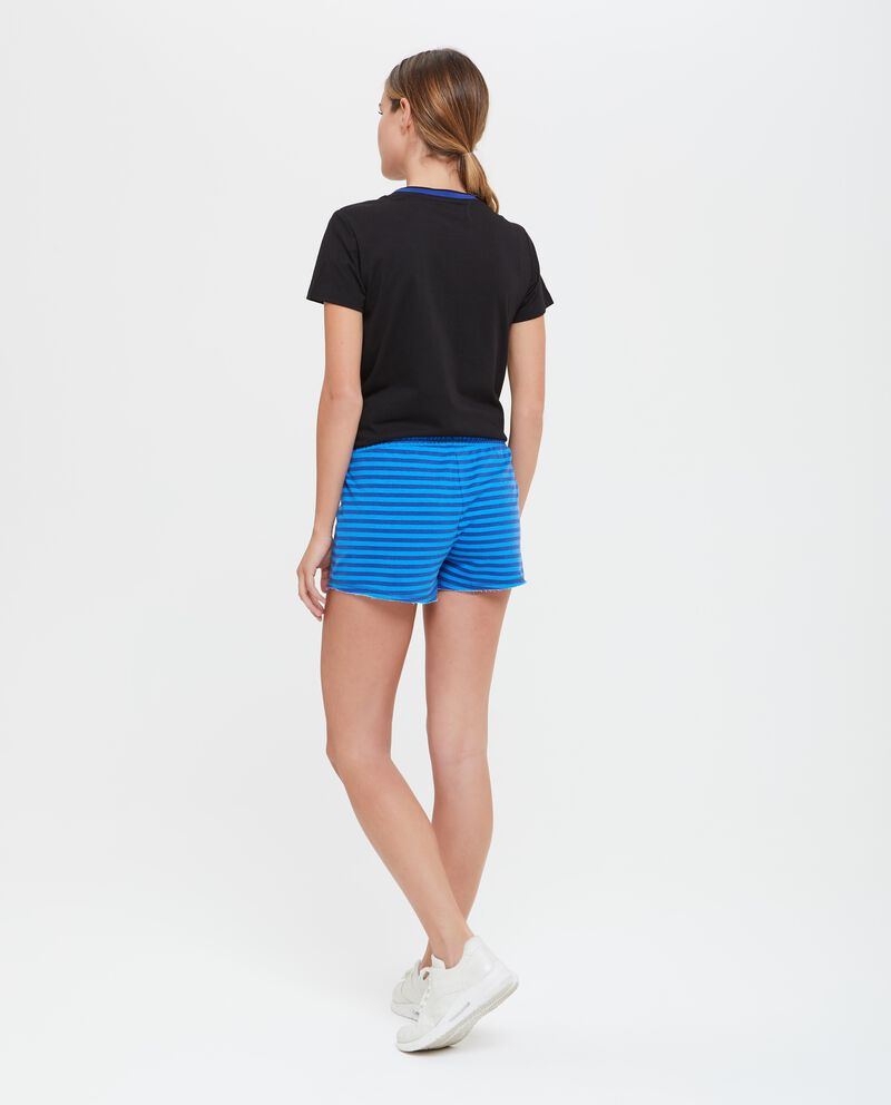 Pantaloncini fitness donna a righe