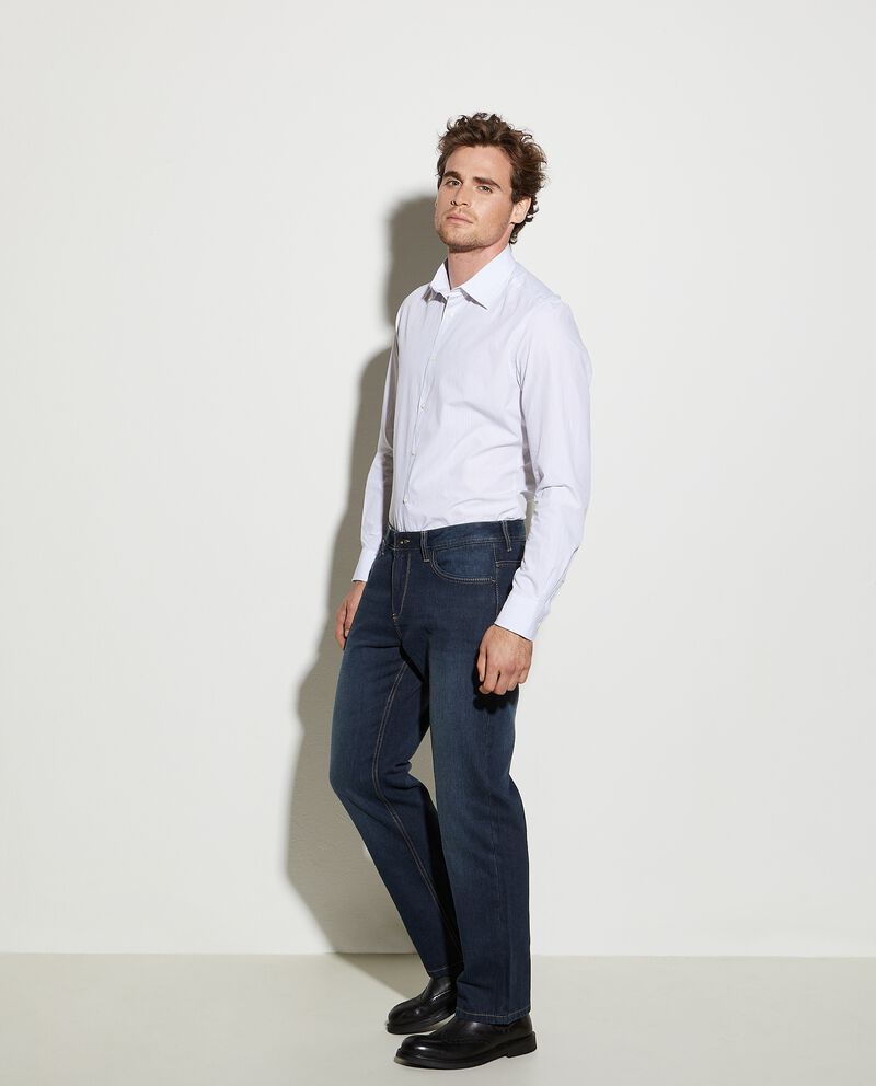 Jeans comfort fit dark blue in cotone uomo