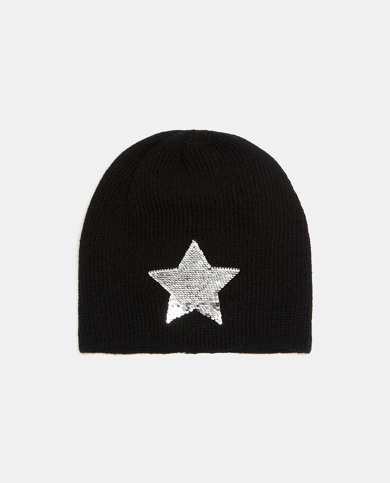 Cappellino con stellina in paillettes bambina