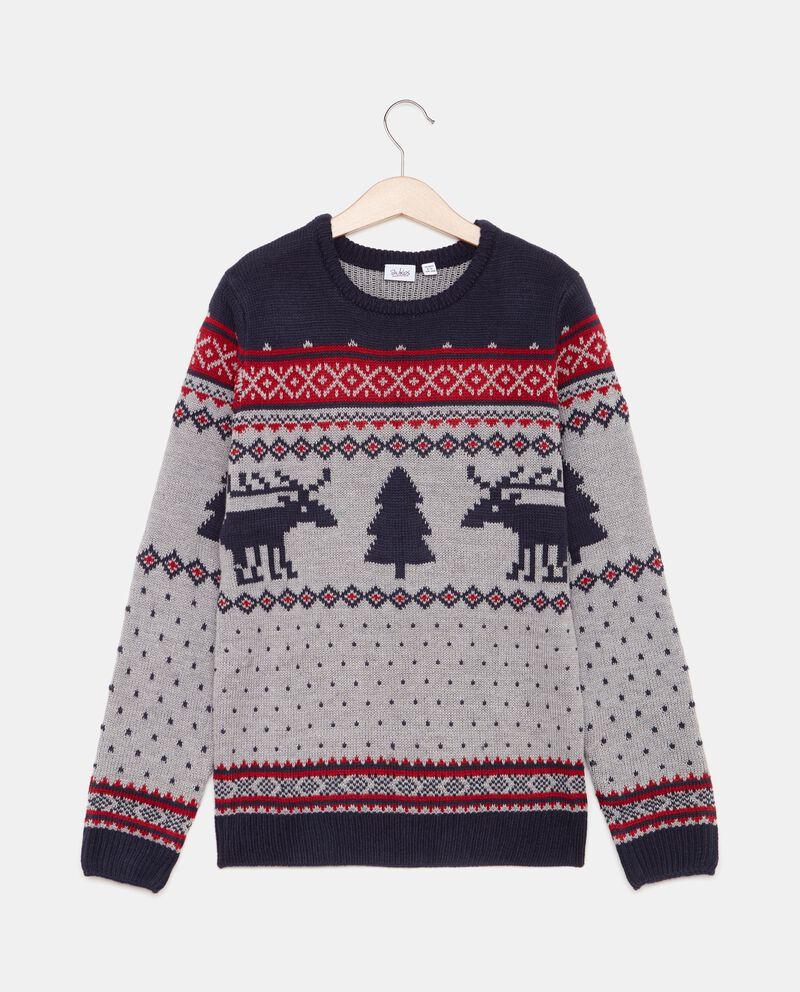 Maglione con motivo natalizio ragazzo