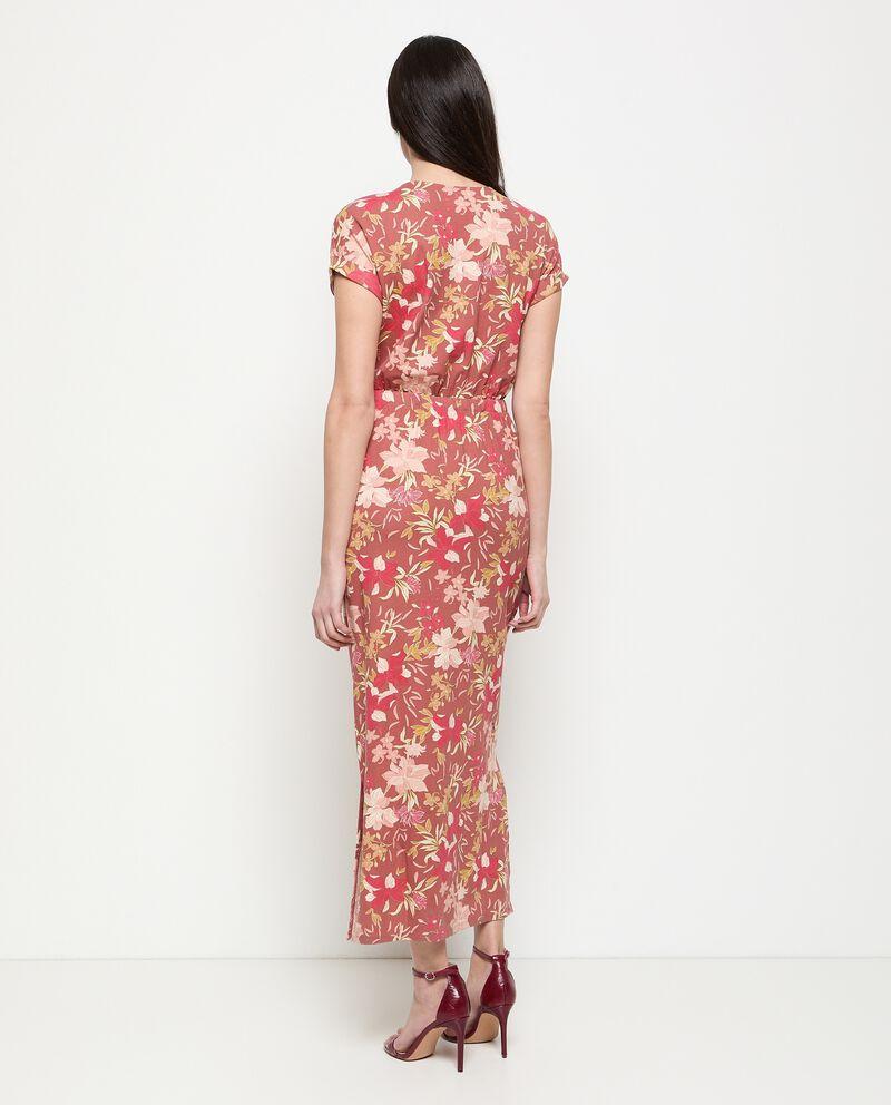 Vestito in viscosa stretch stampato donna single tile 1