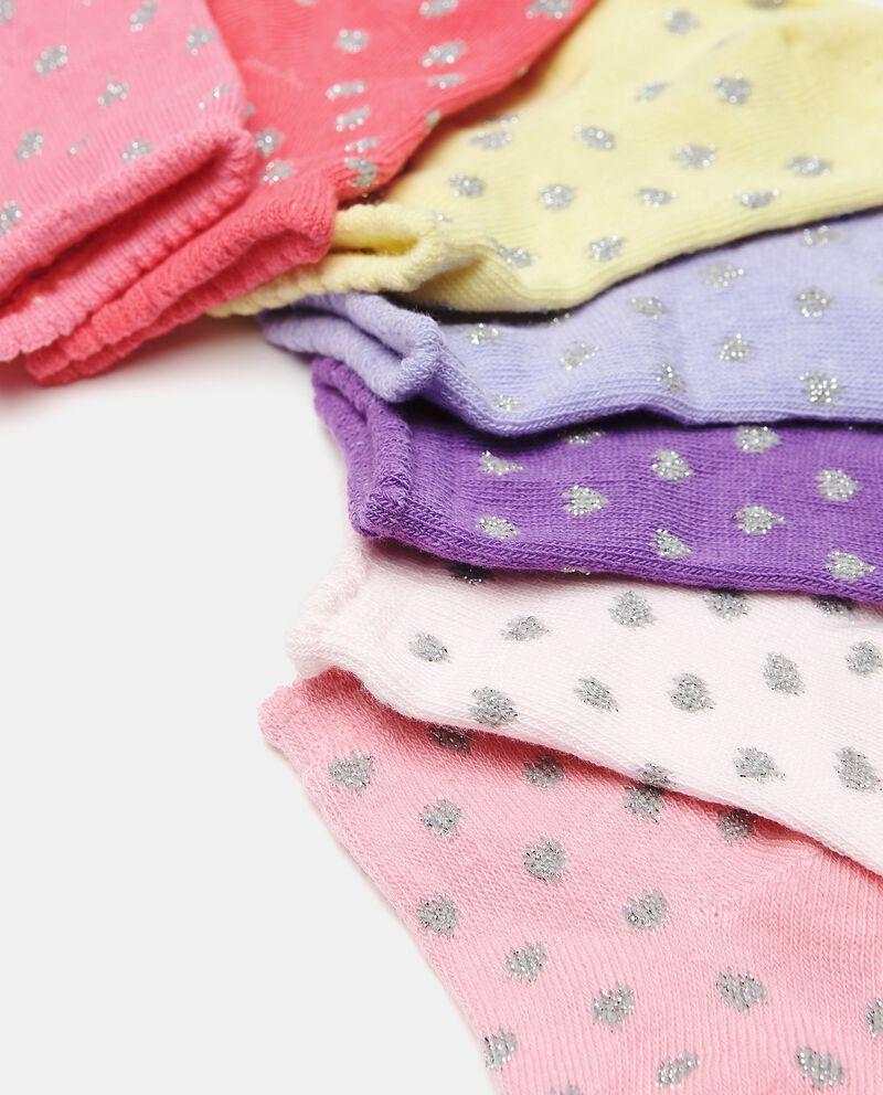 Set di 7 paia di calzini di cotone organico neonata single tile 1