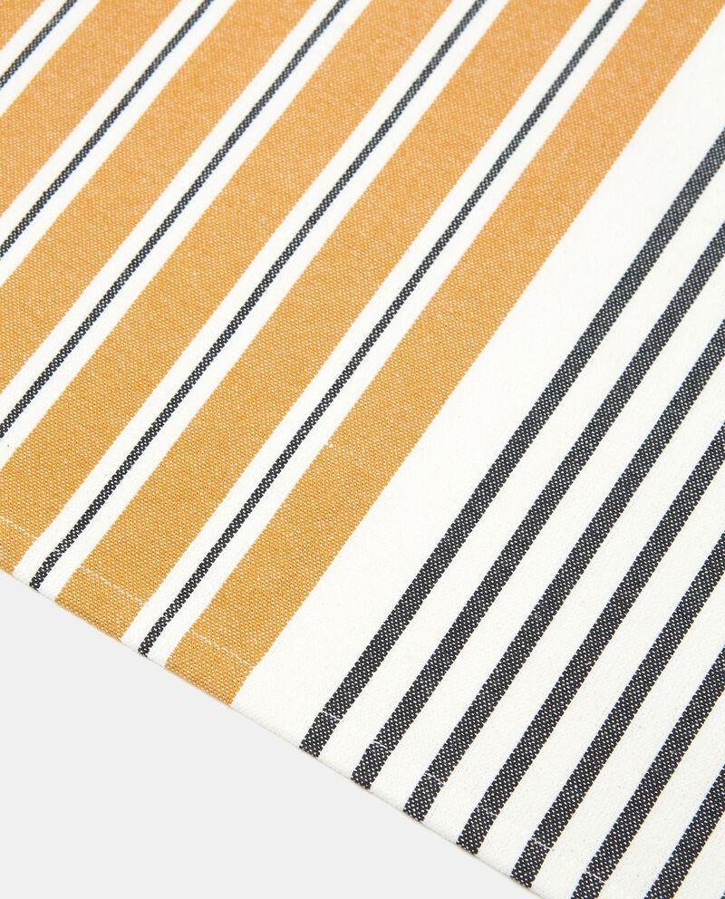 Tovaglietta a righe bicolor in puro cotone