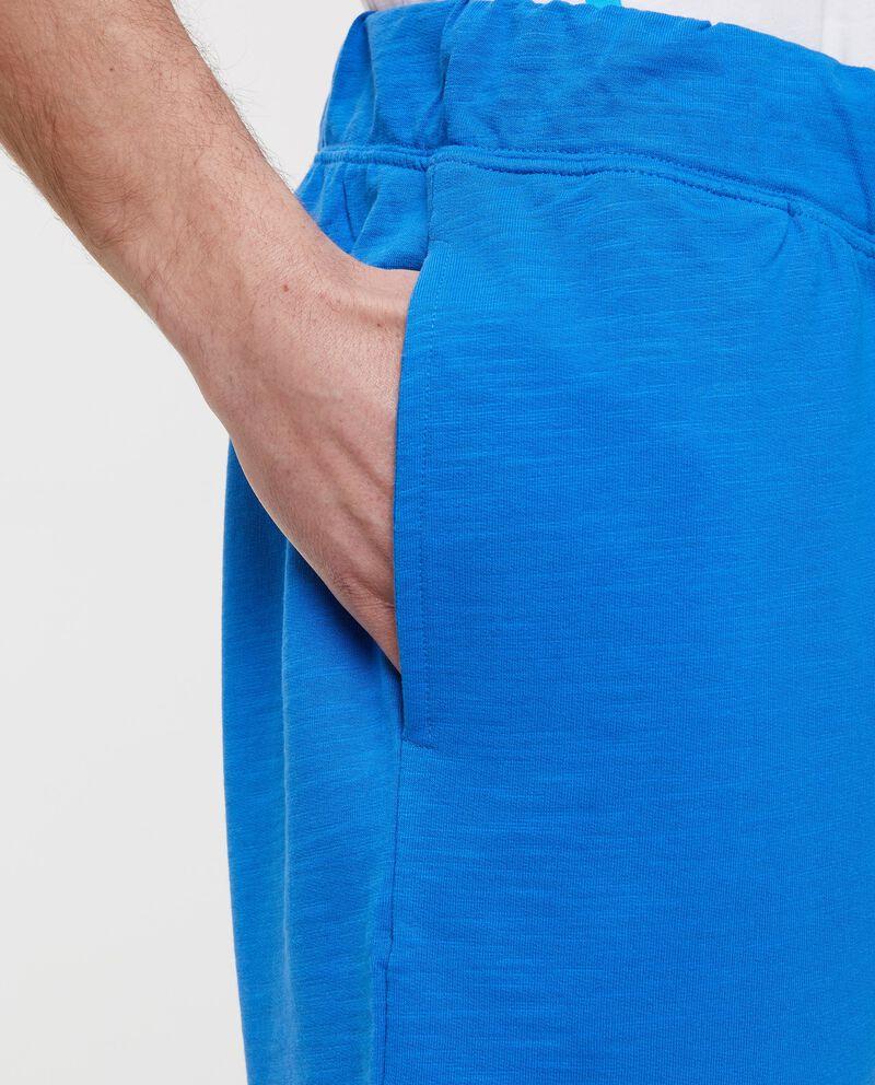 Bermuda blu in bio cotton in tinta unita uomo
