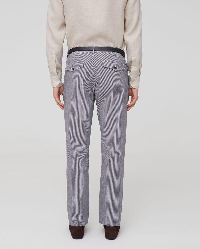 Pantaloni chino puro cotone a righe