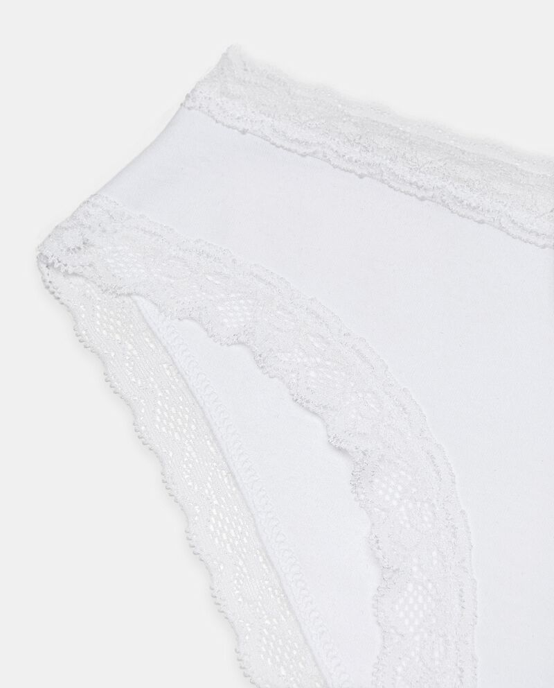 Slip a vita alta in cotone elasticato donna