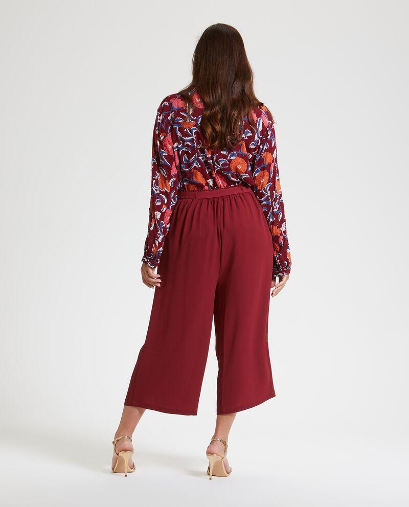 Pantaloni a palazzo cropped Curvy donna