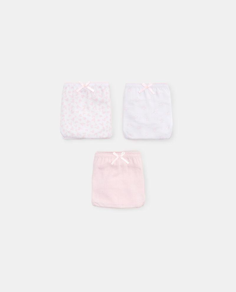 Pack con 3 slip in puro cotone biologico bambina cover