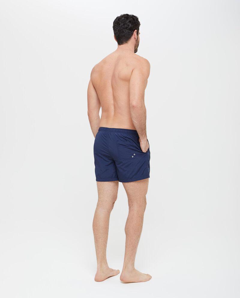 Shorts mare in tinta unita con tasche uomo