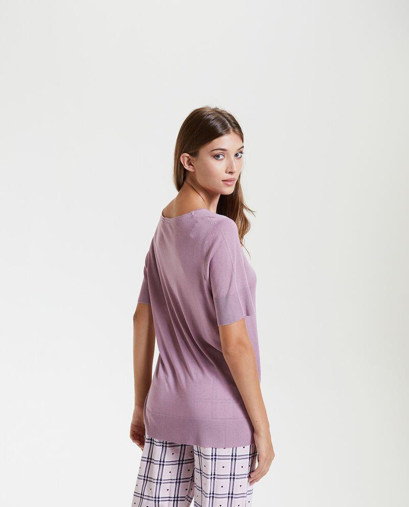 Maglia pigiama in tinta unita