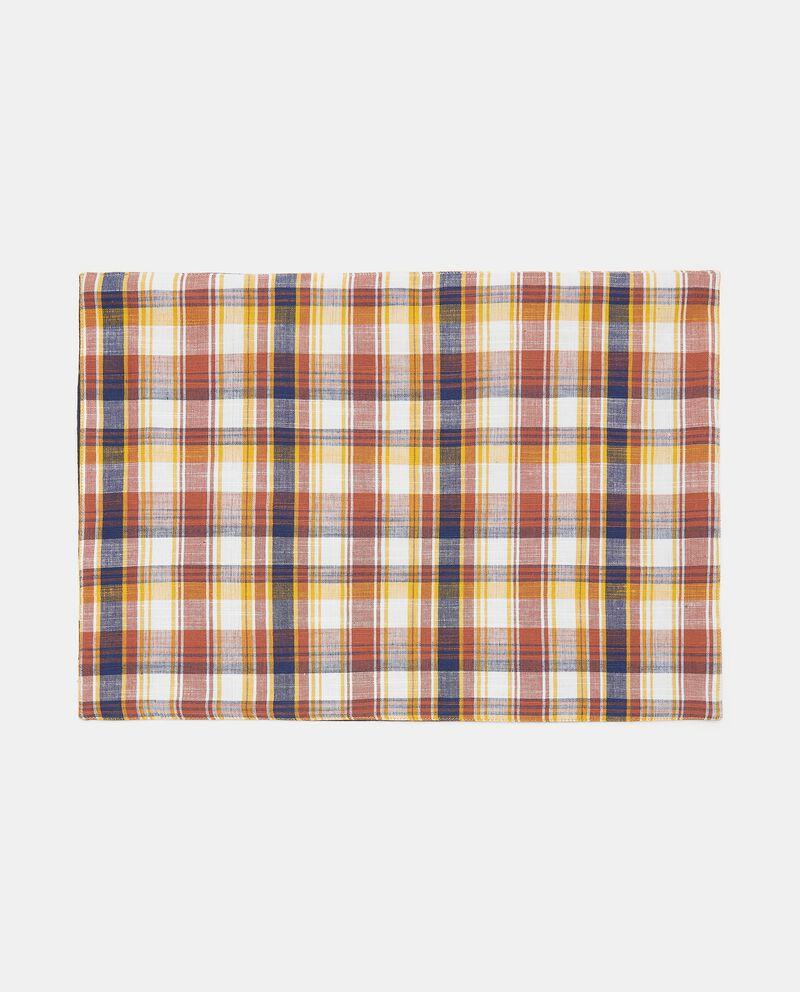 Tovaglietta a quadri double layer in puro cotonedouble bordered 0