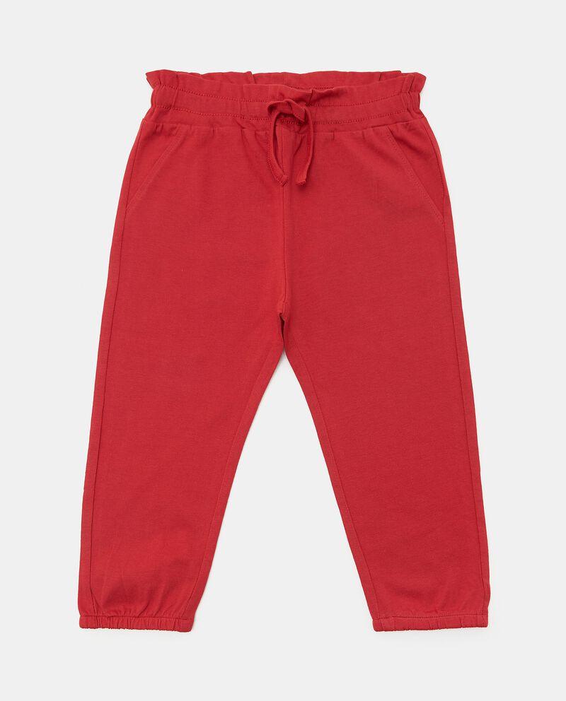 Pantaloni in tinta unita di puro cotone biologico neonata