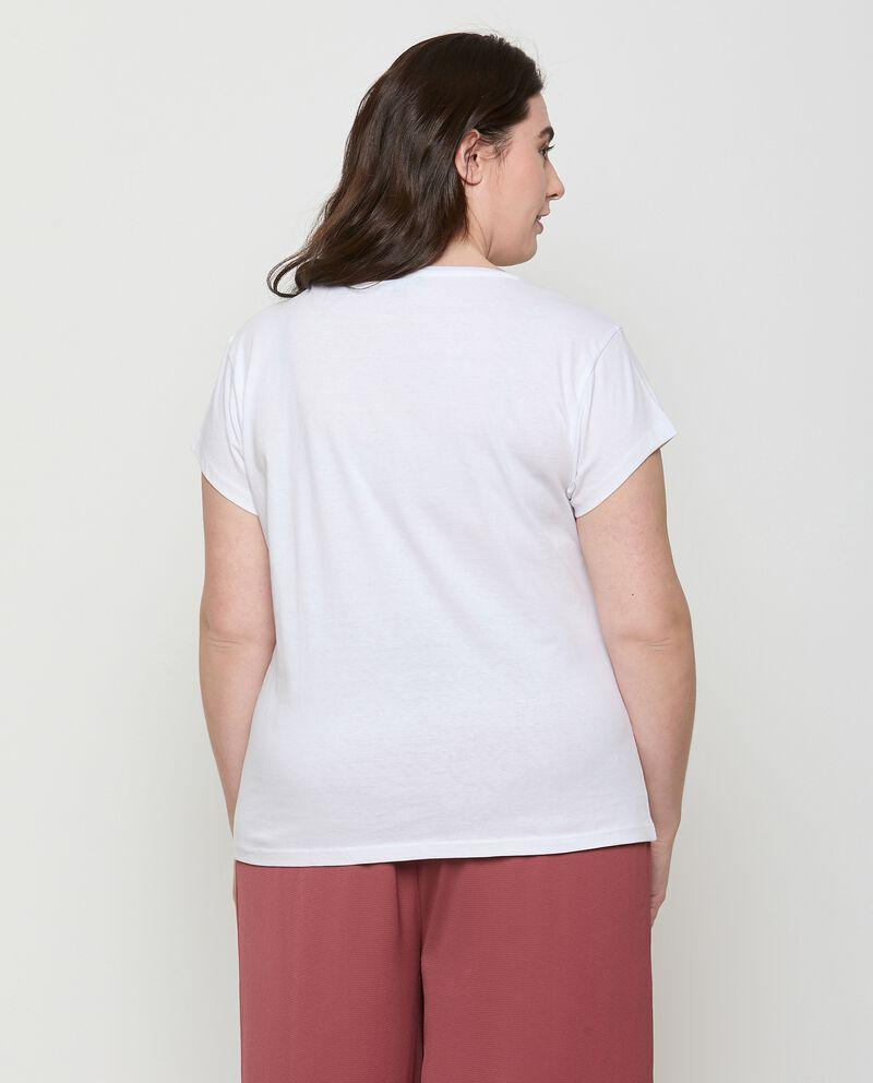 T-shirt di cotone organico con stampa Curvy
