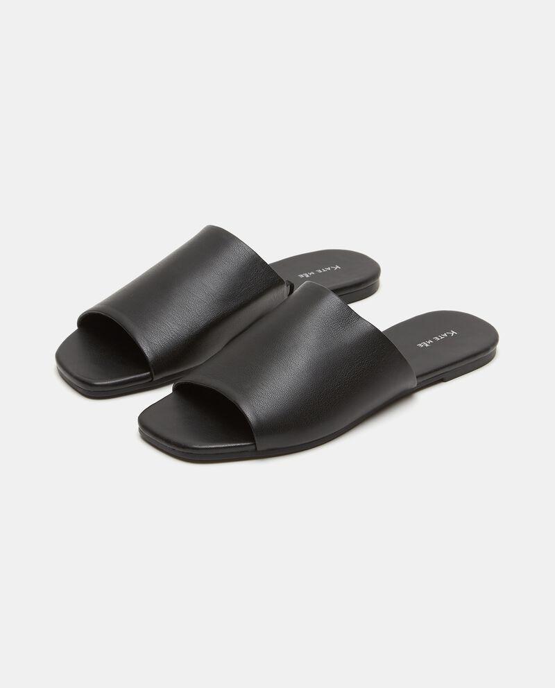 Sandalo basso in ecopelle donna