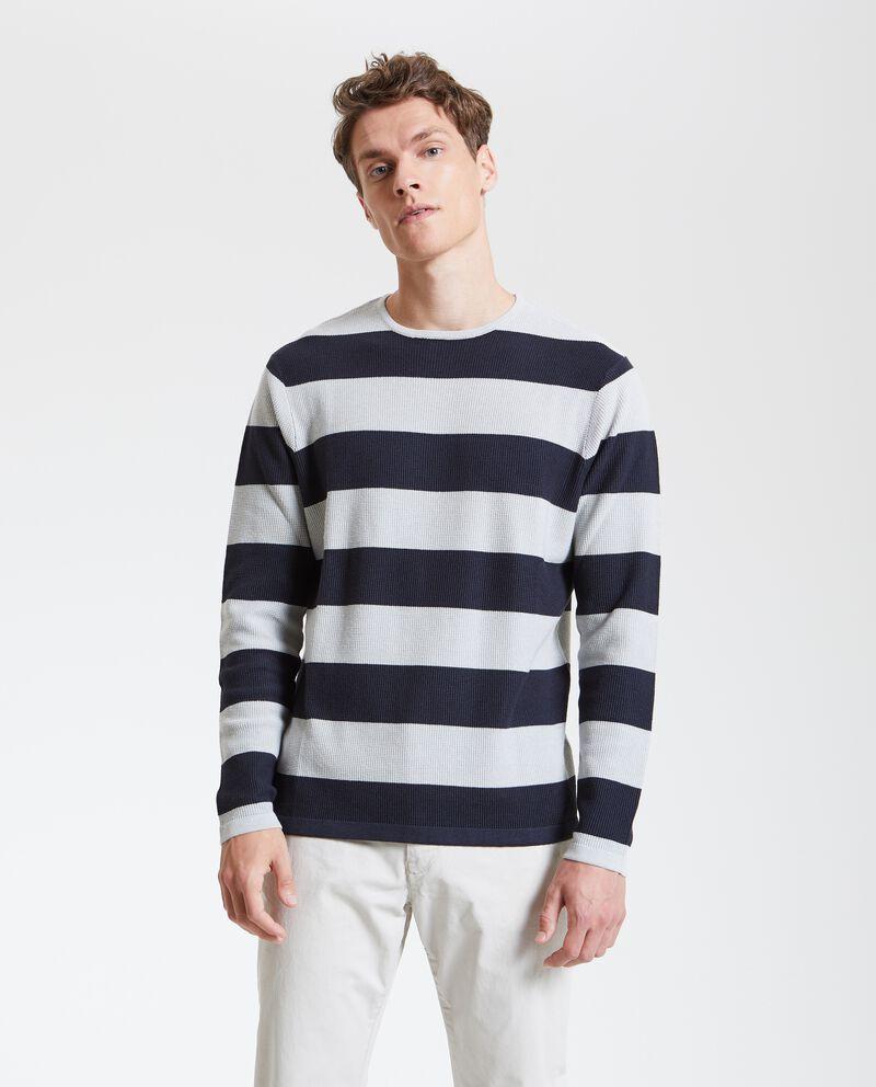 Maglione tricot a righe uomo