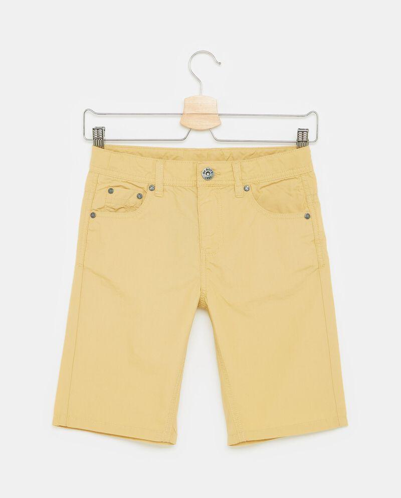 Shorts cinque tasche in puro cotone ragazzo