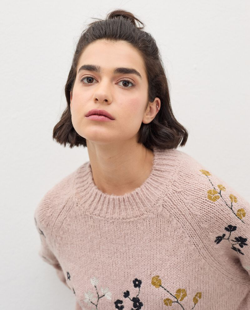 Maglia tricot con ricami floreali donna single tile 2