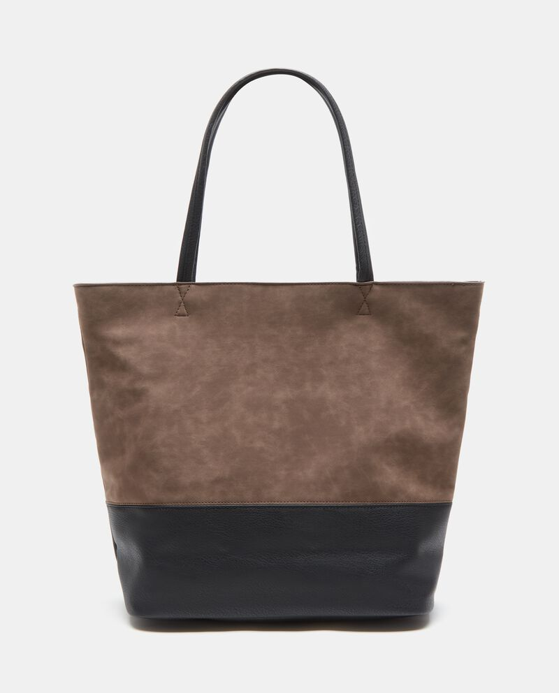 Shopper effetto similpelle donna