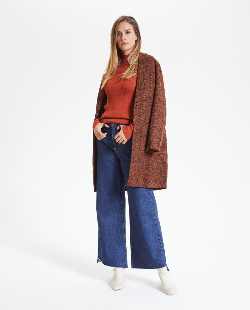 Cappotto effetto mélange donna
