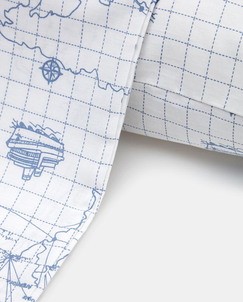 Parure copripiumino con stampa mappa