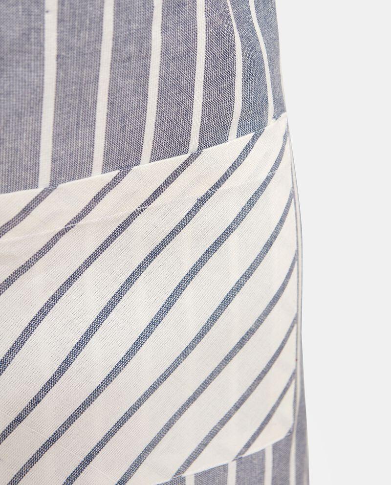 Grembiule in puro cotone a righe single tile 1