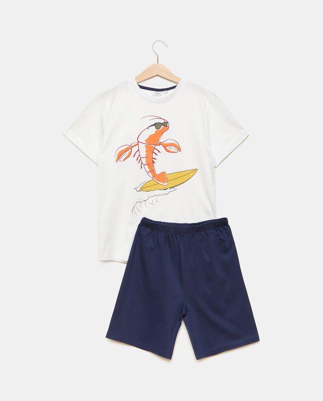 Set pigiama t-shirt con shorts puro cotone bambino