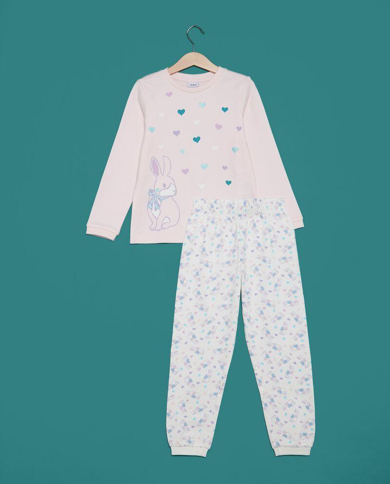 Set pigiama t-shirt cuori e pantaloni bambina
