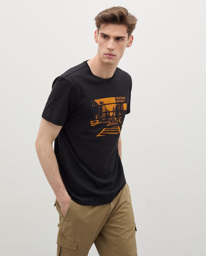 T-shirt stampata in cotone organico uomo cover