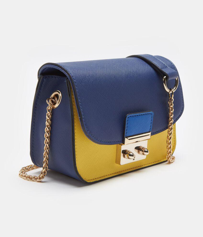 Mini city bag blu con tracolla