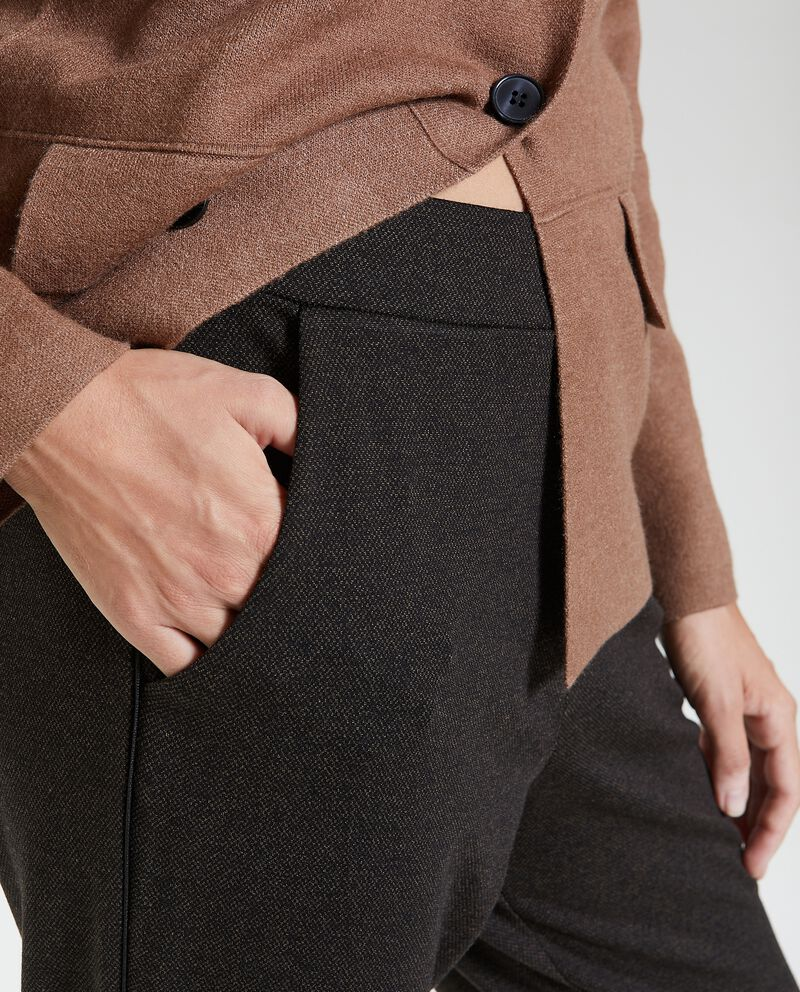 Joggers in maglina mélange donna